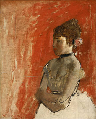 Ballet Dancer With Arms Crossed Poster by Edgar Degas