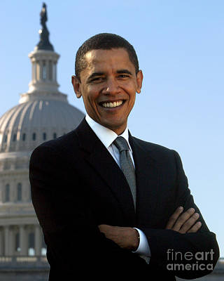 Barack Obama Poster by Celestial Images