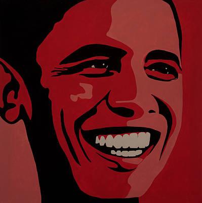 Barack Obama Poster by Irene Jonker