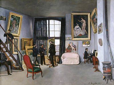 Bazille's Studio Poster by Frederic Bazille