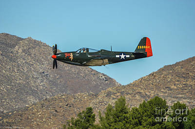 Bell P-63 Kingcobra Poster by Tommy Anderson