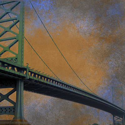 Ben Franklin Bridge Philadelphia Pa Poster by Brandi Fitzgerald