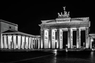 Berlin At Night - Brandenburg Gate - Brandenburger Tor Poster