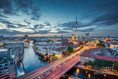 Berlin City Lights Poster