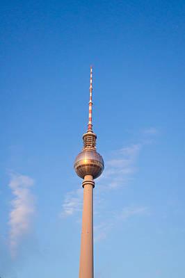 Berlin Tv Tower Poster by Tom Gowanlock