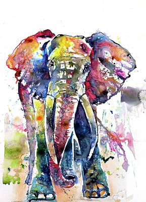 Big Colorful Elephant Poster