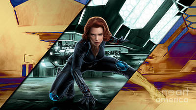 Black Widow Collection Poster by Marvin Blaine