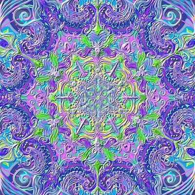 Bohemian Romantic Mandala Poster by Sandrine Kespi