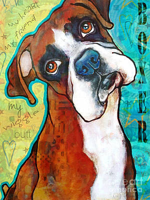 Boxer Love Poster by Stephanie Gerace