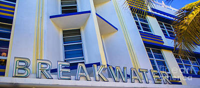 Iconic Breakwater Hotel South Beach Poster by Rene Triay Photography