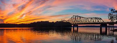 Browns Bridge Sunset Poster by Michael Sussman