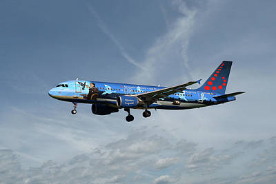 Brussels Airlines Airbus A320-214 Poster