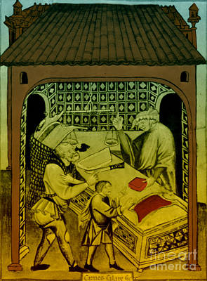 Butcher, Medieval Tradesman Poster by Science Source