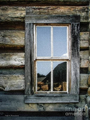 Cabin Window Poster by Todd A Blanchard