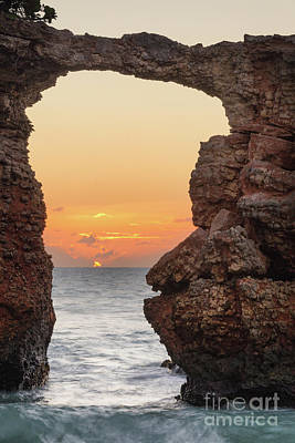 Cabo Rojo Arch Sunset Poster