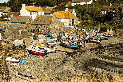 Poster featuring the photograph Cadgwith Cove by Brian Roscorla