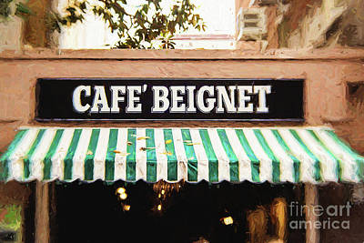 Cafe Beignet - Digital Painting Poster
