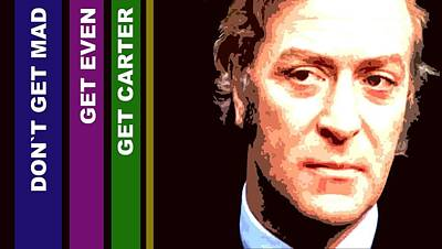 Caine As Carter Poster by Martin James
