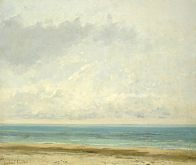Calm Sea Poster by Gustave Courbet