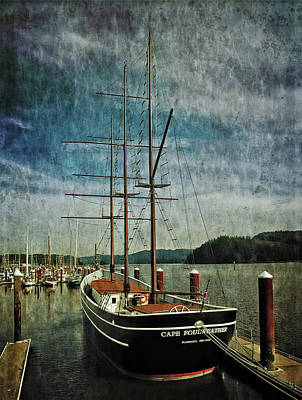 Poster featuring the photograph Cape Foulweather Tall Ship by Thom Zehrfeld