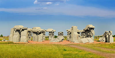 Carhenge Poster by Edwin Verin