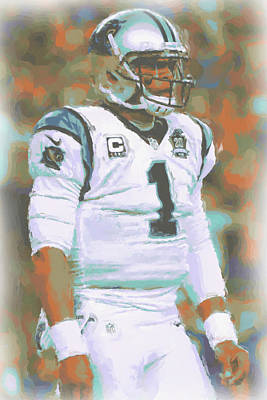 Carolina Panthers Cam Newton Poster by Joe Hamilton