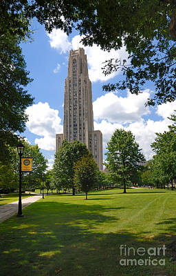 Cathedral Of Learning University Of Pittsburgh Poster by Amy Cicconi