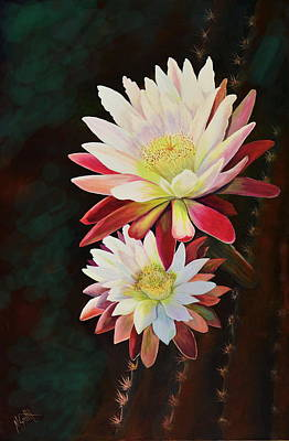 Poster featuring the painting Cereus Business by Marilyn Smith