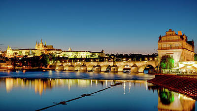 Poster featuring the photograph Charles Bridge by Fabrizio Troiani
