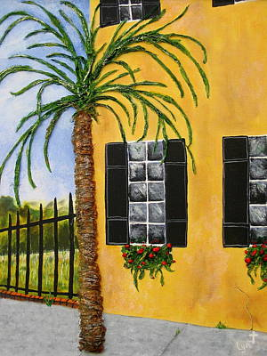 Poster featuring the painting Charleston 3d by Lyn Calahorrano