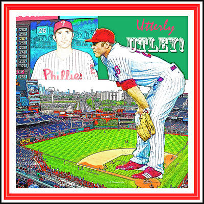 Chase Utley Poster Utterly Utley Poster