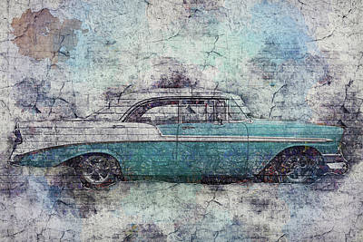 Poster featuring the photograph Chevy Bel Air by Joel Witmeyer