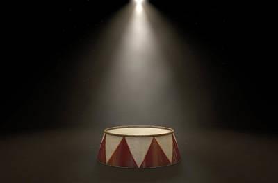 Circus Podium Spotlit Poster by Allan Swart
