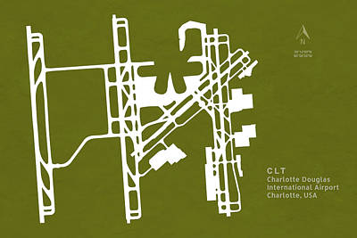 Clt Charlotte Douglas International Airport In Charlotte North C Poster