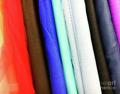 Colorful Fabrics Selection Poster