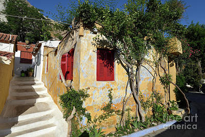 Colorful House In Plaka Poster