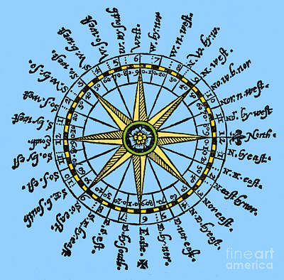 Compass Rose, 1607 Poster