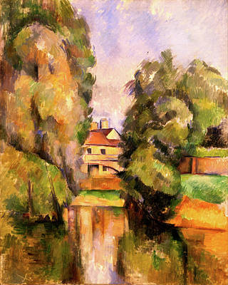 Country House By A River  Poster by Paul Cezanne
