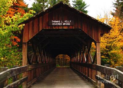 Poster featuring the photograph Covered Bridge At Allegany State Park by Rose Santuci-Sofranko