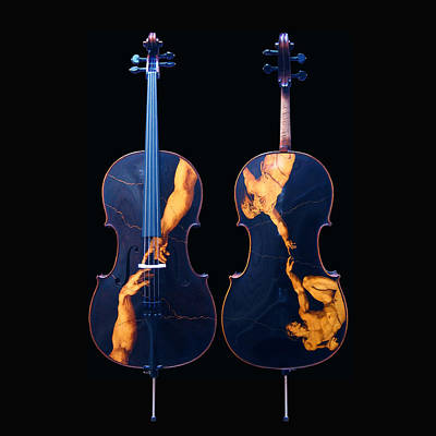Custom Gliga Cello Poster by Dino Muradian