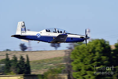 Daedalus Demo Team Of Hellenic Air Force Flying T-6a Texan II Poster