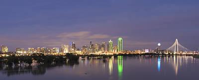 Dallas Skyline Twilight Poster by Jonathan Davison
