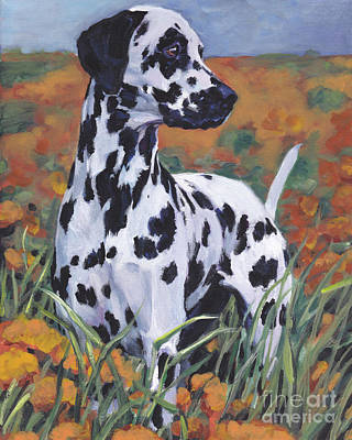 Poster featuring the painting Dalmatian by Lee Ann Shepard