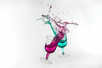 Dancing Drinks Poster by Peter Lakomy
