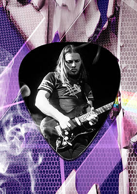David Gilmour Pink Floyd Art Poster by Marvin Blaine