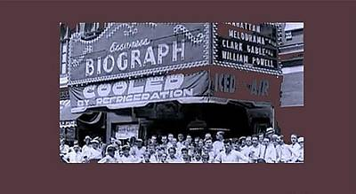 Day After John Dillinger Was Shot Biograph Theater Chicago Illinois July 23 1934-2012 Poster