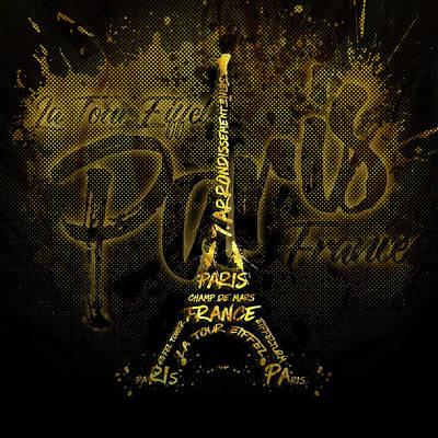 Digital-art Eiffel Tower Poster