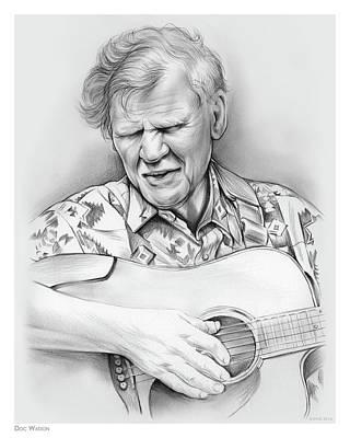 Doc Watson Poster by Greg Joens