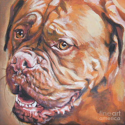 Dogue De Bordeaux Poster by Lee Ann Shepard