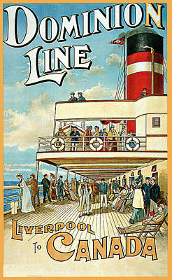 Dominion Line Poster by William Cossens